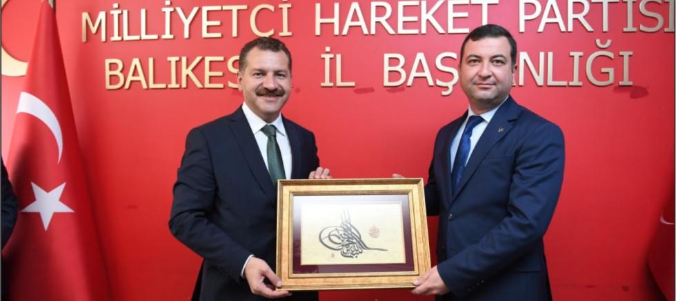 Başkan Yılmaz'dan MHP il başkanlığına hayırlı olsun ziyareti